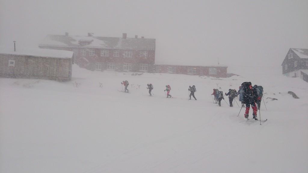 Tur til Demmevass, retur. Snø(storm), vind osv.