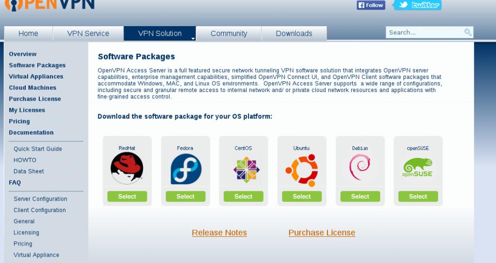Openvpn access server linux flavors